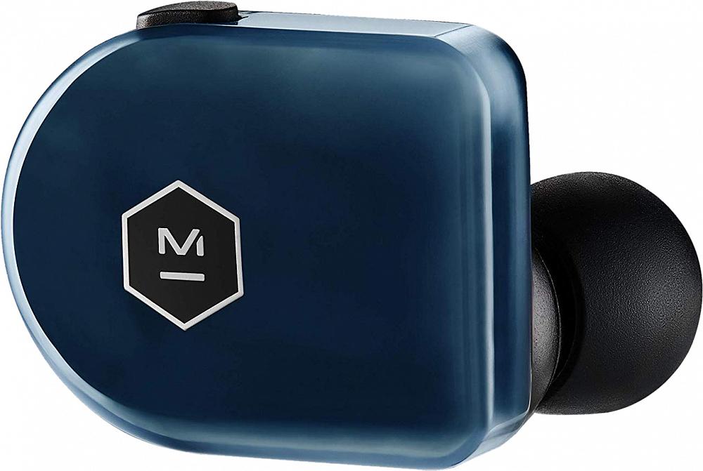 Беспроводные наушники MW07 Plus, стальной синий