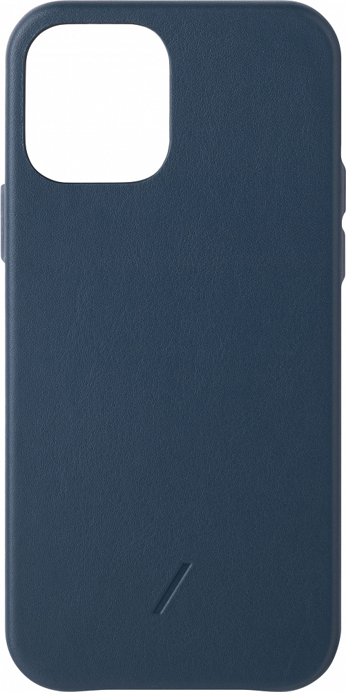 Чехол Clic Classic для iPhone 12 /12 Pro, кожа, синий