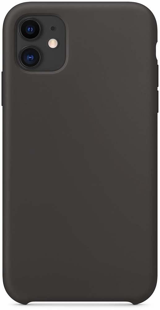 Чехол для iPhone 11, силикон, черный