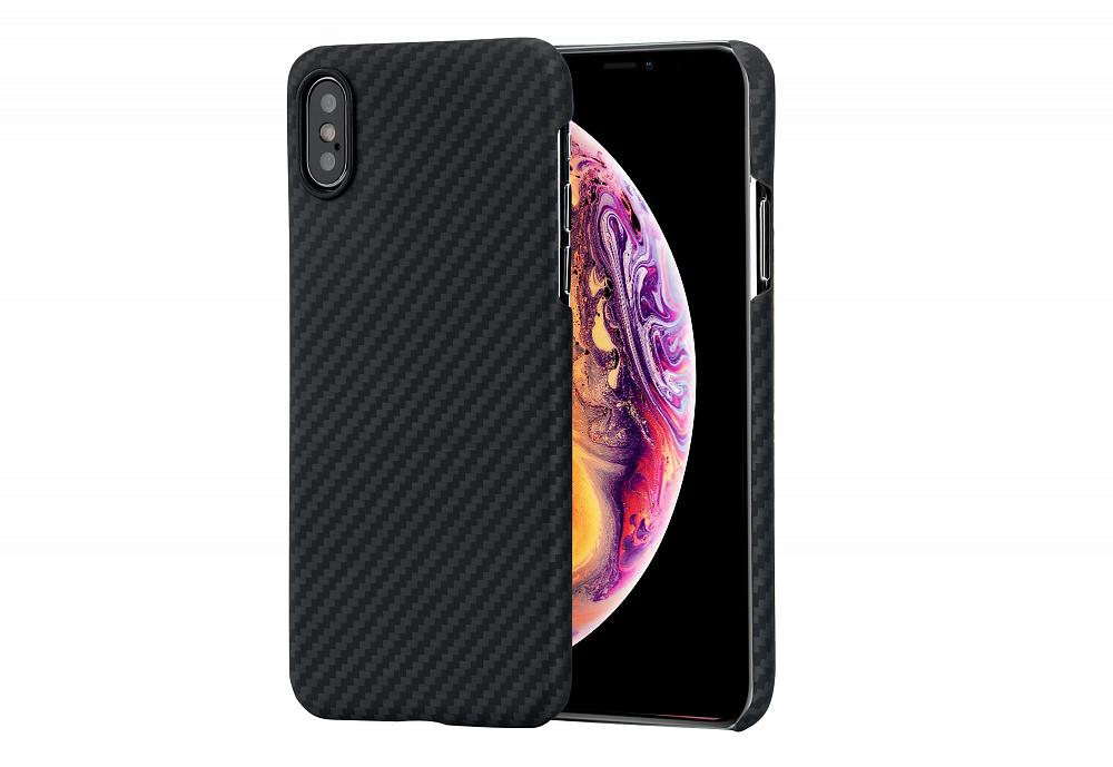 Чехол MagCase для iPhone XS, черный серый