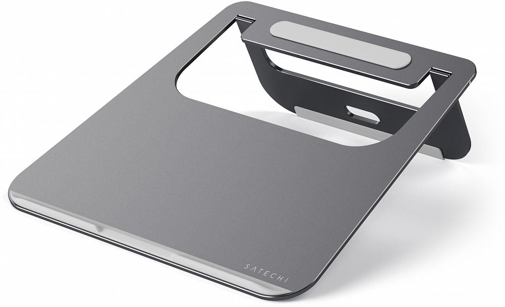 Подставка Aluminum Portable & Adjustable Laptop Stand для MacBook, «серый космос»