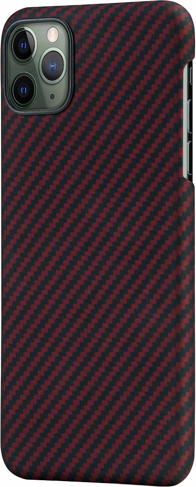 Чехол для iPhone 11 Pro Max, кевлар, красно-черный