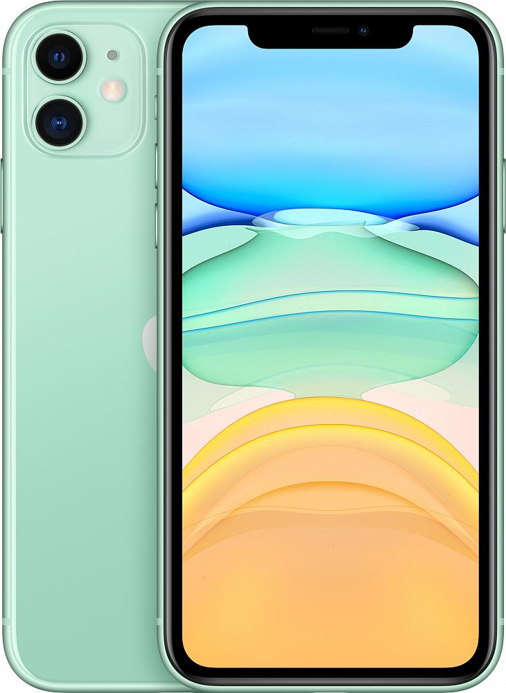 iPhone 11, 128 ГБ, зеленый (новая комплектация)