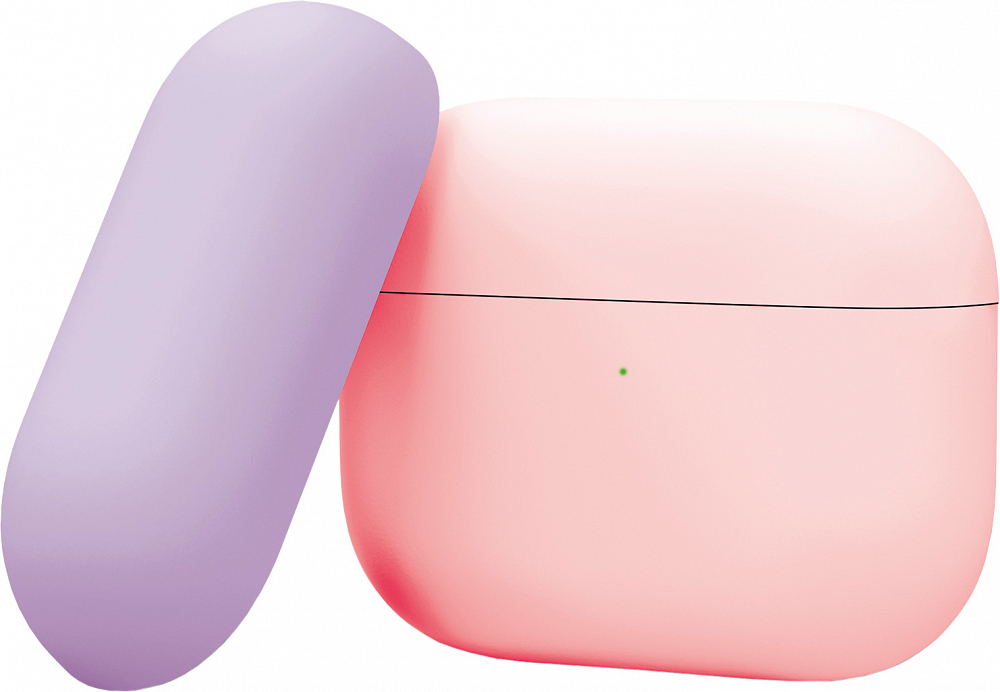 Чехол для AirPods Pro, силикон, розовый