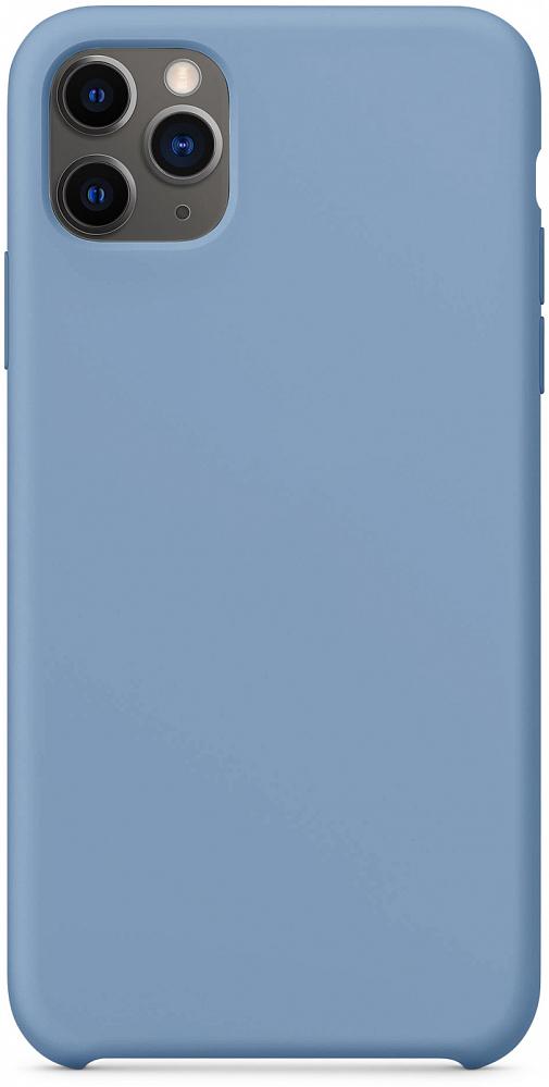 Чехол для iPhone 11 Pro Max, силикон, синий деним