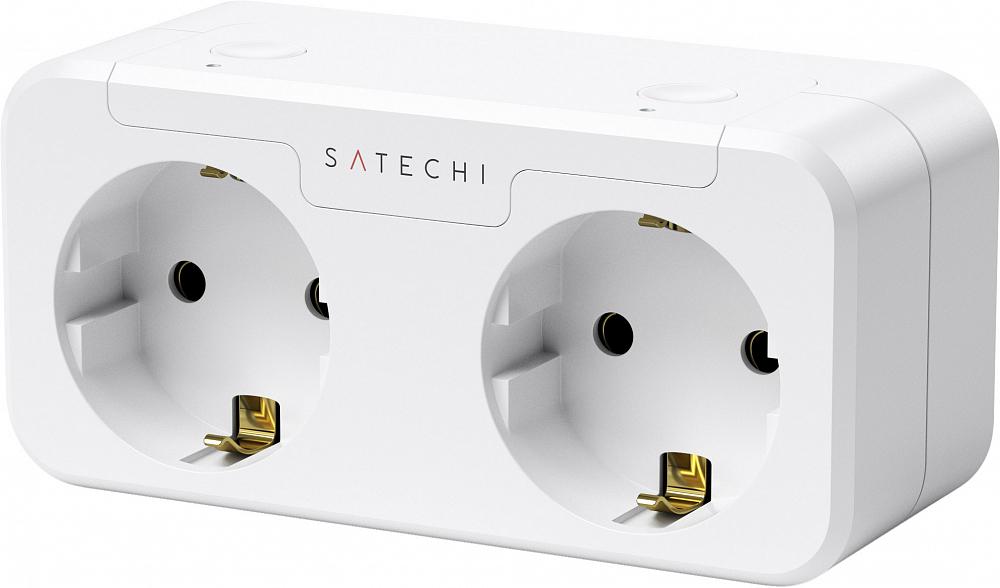 Умная розетка Homekit Dual Smart Outlet, белый