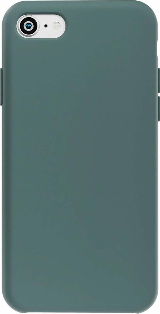 Чехол для iPhone 7/8/SE, силикон, темно-зеленый