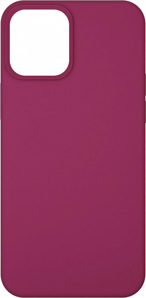 Чехол для iPhone 12/12 Pro, силикон, гранат