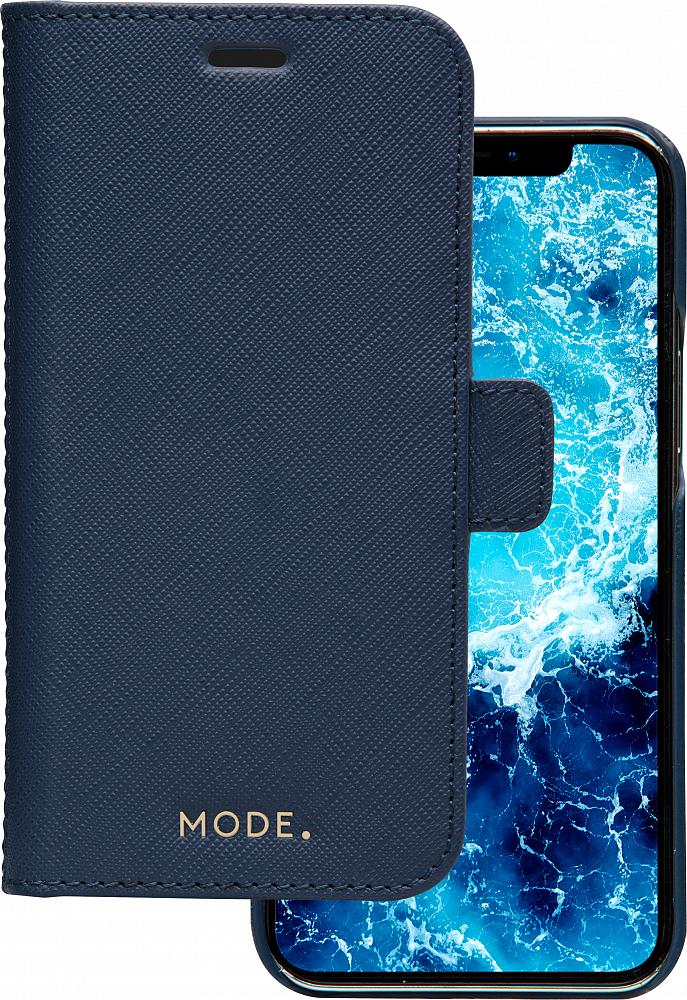 Чехол MODE New York для iPhone 12/12 Pro, кожа, синий