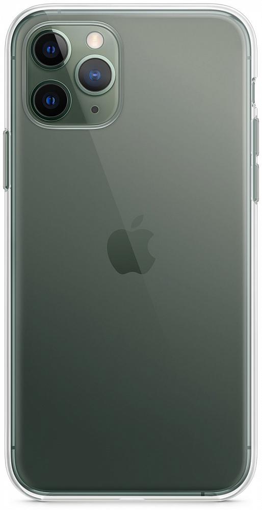 Чехол для iPhone 11 Pro, силикон, прозрачный