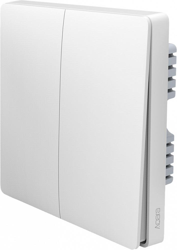 Умный выключатель Wall Switch, 2 кнопки, белый