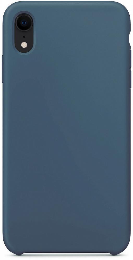 Чехол для iPhone XR, силикон, тёмно-синий
