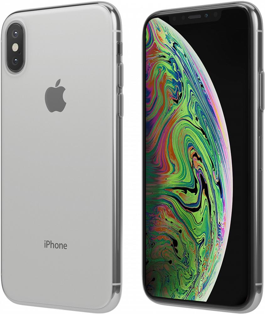 Чехол для iPhone XS, силикон, прозрачный