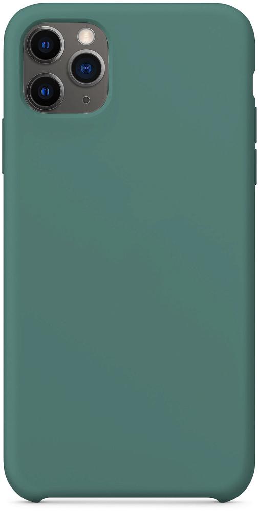 Чехол для iPhone 11 Pro Max, силикон, темно-зеленый