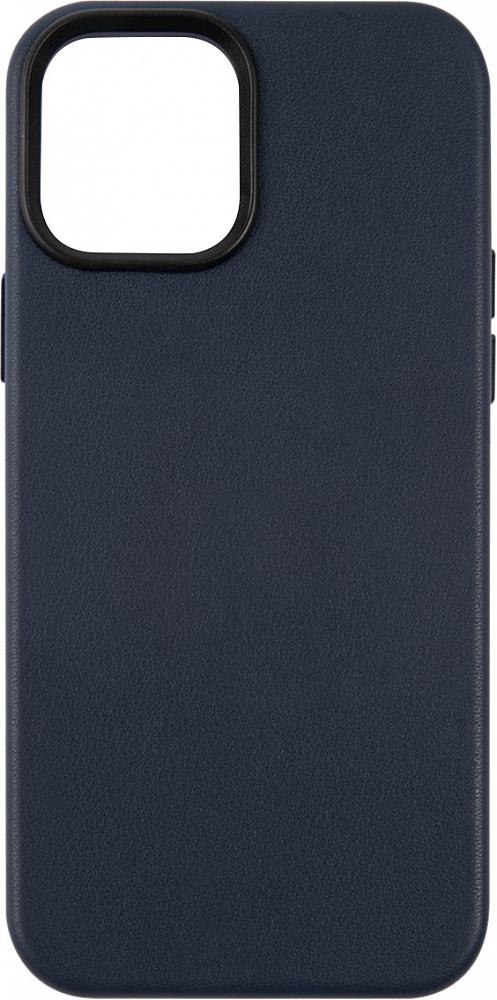 Чехол для iPhone 12/12 Pro, кожа, синий