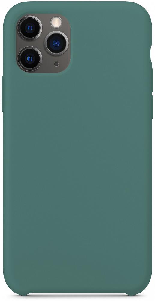 Чехол для iPhone 11 Pro, силикон, темно-зеленый