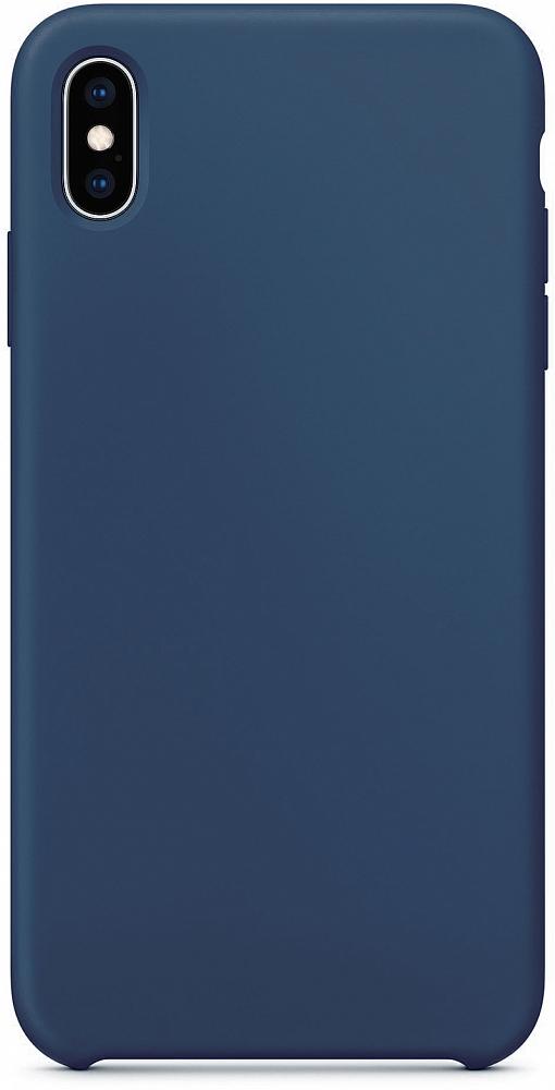 Чехол для iPhone XS Max, силикон, темно-синий