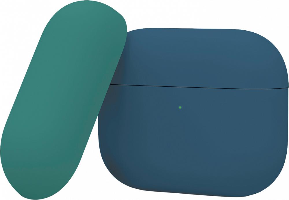 Чехол для AirPods Pro, силикон, синий