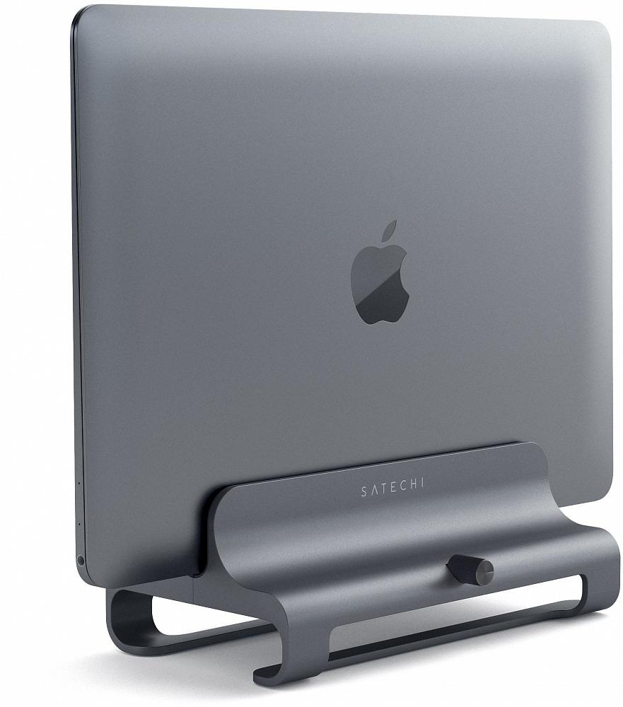 Подставка Universal Vertical Aluminum Laptop Stand для MacBook, «серый космос»