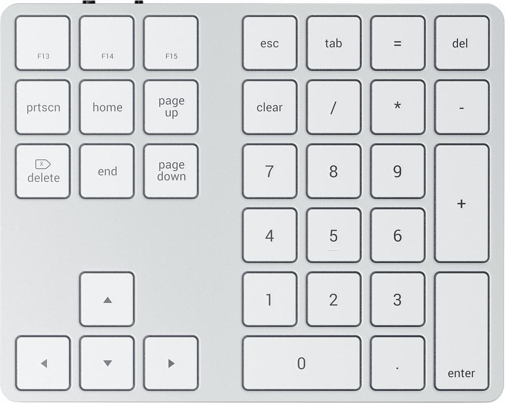 Клавиатура Aluminum Extended Keypad, серебристый